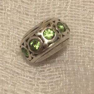 Chamilia peridot stone charm